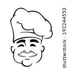 happy european chef in toque... | Shutterstock . vector #192244553