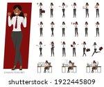 set of indian business people... | Shutterstock .eps vector #1922445809