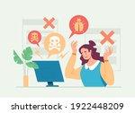 hacker attack computer virus... | Shutterstock .eps vector #1922448209