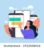 woman character searching... | Shutterstock .eps vector #1922448416