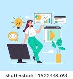 online internet business... | Shutterstock .eps vector #1922448593