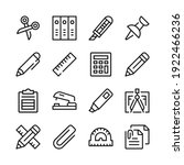 stationery line icons set.... | Shutterstock .eps vector #1922466236