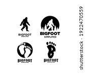 set of big foot yeti logo icon... | Shutterstock .eps vector #1922470559