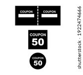 coupon icon vector minimal...