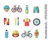 bicycle sport fitness icons set ... | Shutterstock . vector #192252200