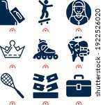 simple set of  9 filled icons... | Shutterstock . vector #1922526020