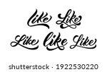 word like for print on t shirt  ... | Shutterstock .eps vector #1922530220