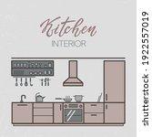 vector illustration of kitchen... | Shutterstock .eps vector #1922557019