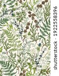 forest seamless pattern. floral ... | Shutterstock .eps vector #1922558396