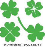 collection of four leaf clovers.... | Shutterstock .eps vector #1922558756