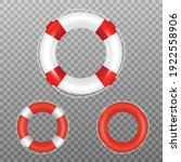 Red And White Life Buoys....