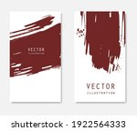abstract ink brush banners set... | Shutterstock .eps vector #1922564333