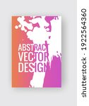 abstract poster templates.... | Shutterstock .eps vector #1922564360