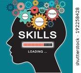 loading skills concept | Shutterstock .eps vector #192258428