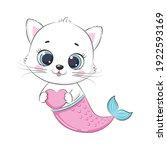 cute little kitten and mermaid. ...   Shutterstock .eps vector #1922593169