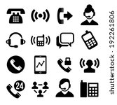 phone and call center icons set | Shutterstock .eps vector #192261806