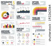 red and yellow infographic... | Shutterstock .eps vector #192262064