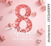 8 march happy women's day love... | Shutterstock . vector #1922640899
