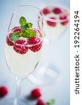 champagne with fresh raspberries | Shutterstock . vector #192264194