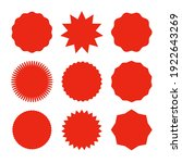 starburst promo red sticker... | Shutterstock .eps vector #1922643269