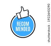 recommend best advantage icon....   Shutterstock .eps vector #1922643290