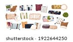 set of trendy bed pillows with... | Shutterstock .eps vector #1922644250