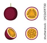 passion fruit  whole fruit and... | Shutterstock .eps vector #1922659730