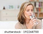 woman enjoying a healthy glass... | Shutterstock . vector #192268700