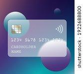 transparent plastic bank card...   Shutterstock .eps vector #1922688800