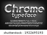 3d chrome alphabet font....   Shutterstock .eps vector #1922695193