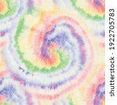 pastel tie dye swirl. round tie ... | Shutterstock .eps vector #1922705783