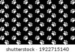 dog paw seamless. paw print...   Shutterstock .eps vector #1922715140