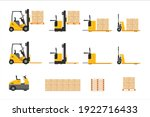 Forklift At Work Set With...