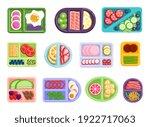 balanced nourishment dividing... | Shutterstock .eps vector #1922717063
