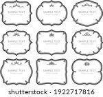 a collection of european style... | Shutterstock .eps vector #1922717816