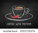 coffee with pepper cup isolated ... | Shutterstock .eps vector #1922725376