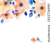 watercolor background with pink ... | Shutterstock . vector #1922726900