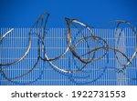 Sharp Barbed Razor Wire On...