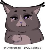 sly cat knows something and... | Shutterstock .eps vector #1922735513