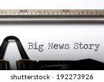 big news story | Shutterstock . vector #192273926