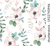 floral seamless pattern with... | Shutterstock . vector #1922743946