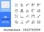 line icons about gardening.... | Shutterstock .eps vector #1922755559