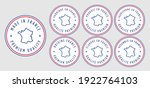 set badge logotype of made in... | Shutterstock .eps vector #1922764103
