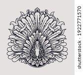 tattoo and t shirt design black ... | Shutterstock .eps vector #1922771570