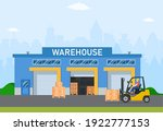 warehouse industry with storage ...   Shutterstock .eps vector #1922777153