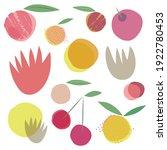 fresh spring summer juicy vegan ... | Shutterstock .eps vector #1922780453