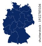 map of germany with regions and ...   Shutterstock .eps vector #1922785106