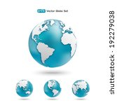modern globe icon set. planet... | Shutterstock .eps vector #192279038