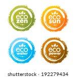 eco zen organic creative circle ... | Shutterstock .eps vector #192279434