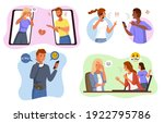 aggressive messages. online... | Shutterstock .eps vector #1922795786